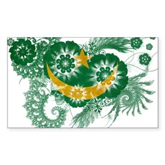 Mauritania Flag Sticker (Rectangle 50 pk)