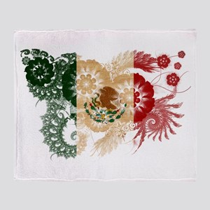 Mexico Flag Throw Blanket
