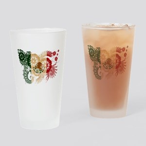 Mexico Flag Drinking Glass