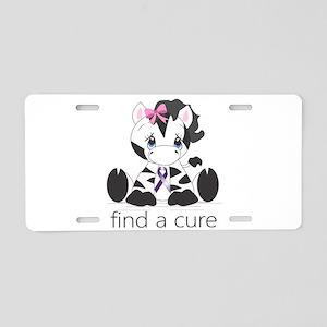 Find a cure Zebra Aluminum License Plate
