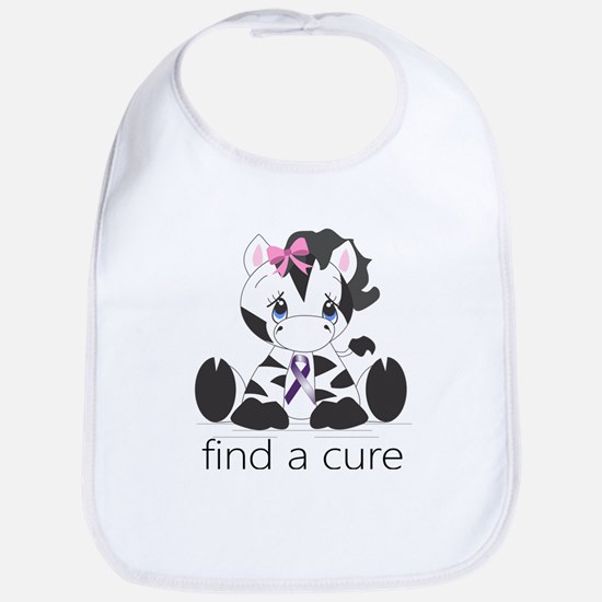 Find a cure Zebra Bib