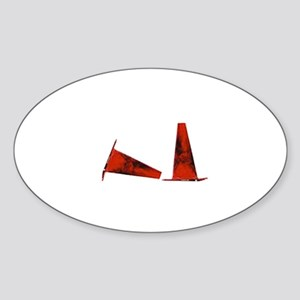 autocross cone Oval Sticker
