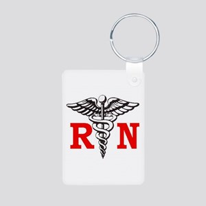 Registered Nurse Aluminum Photo Keychain