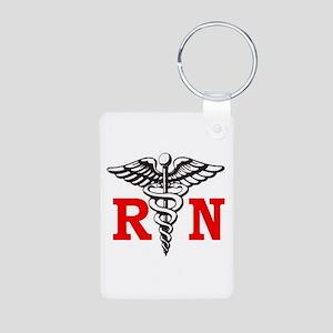 Registered Nurse Aluminum Photo Keychain