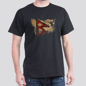 Nepal Flag Dark T-Shirt