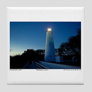Ocracoke Lighthouse. Tile Coaster