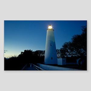 Ocracoke Lighthouse. Sticker (Rectangle)