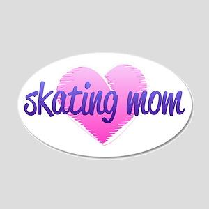 Skating Mom 2 38.5 x 24.5 Oval Wall Peel