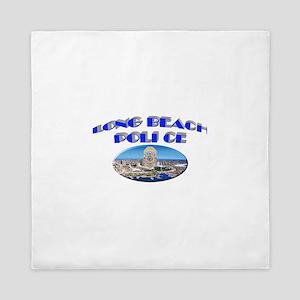 Long Beach Police Queen Duvet