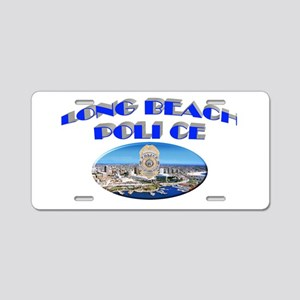 Long Beach Police Aluminum License Plate