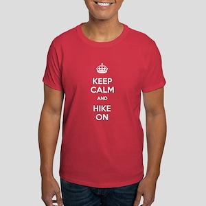 Keep Calm and Hike On Dark T-Shirt