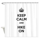 Keep Calm and Hike On Shower Curtain