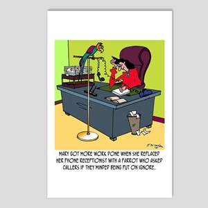 A Parrot Puts You On Ignore Postcards (Package of