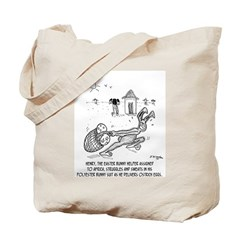 Easter Bunny in Polyester Tote Bag
