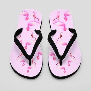Pink Sugar Flamingo Flip Flops