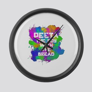 Love Peeta Large Wall Clock
