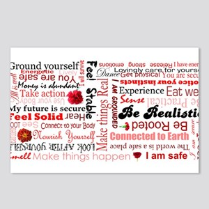 Root Chakra Typography Postcards (Package of 8)