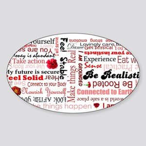 Root Chakra Typography Sticker (Oval)