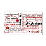 Root Chakra Typography Car Magnet 20 x 12