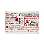 Root Chakra Typography Rectangle Magnet (100 pack)