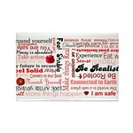 Root Chakra Typography Rectangle Magnet