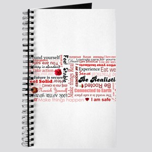 Root Chakra Typography Journal