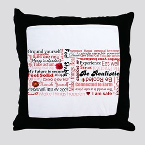 Root Chakra Typography Throw Pillow