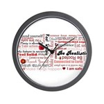 Root Chakra Typography Wall Clock