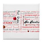 Root Chakra Typography Tile Coaster