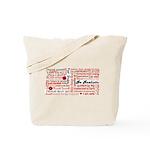 Root Chakra Typography Tote Bag