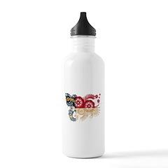 North Carolina Flag Water Bottle