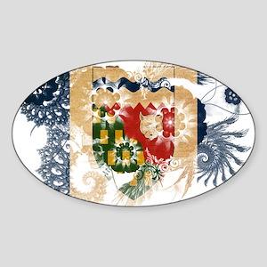 Northwest Territories Flag Sticker (Oval)