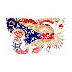 Ohio Flag 38.5 x 24.5 Wall Peel