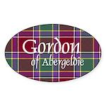 Tartan - Gordon of Abergeldie Sticker (Oval 10 pk)