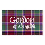 Tartan - Gordon of Abergeldie Sticker (Rectangle 5