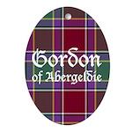Tartan - Gordon of Abergeldie Ornament (Oval)