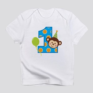 Boy Monkey 1st Birthday Infant T-Shirt