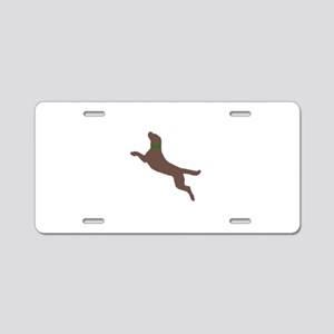 Dock Jumping Dog Aluminum License Plate