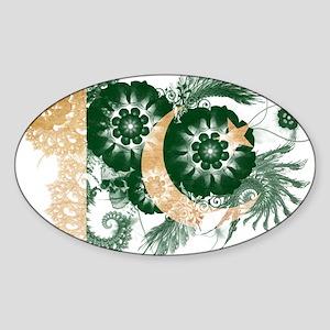 Pakistan Flag Sticker (Oval)