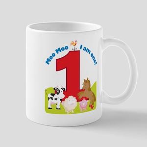 Barnyard 1st Birthday Mug