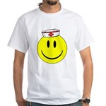 Registered Nurse Happy Face White T-Shirt