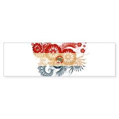 Paraguay Flag Sticker (Bumper)
