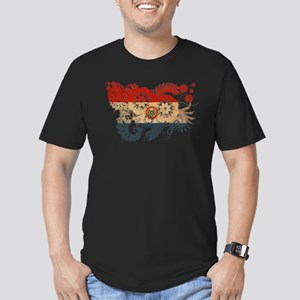 Paraguay Flag Men's Fitted T-Shirt (dark)
