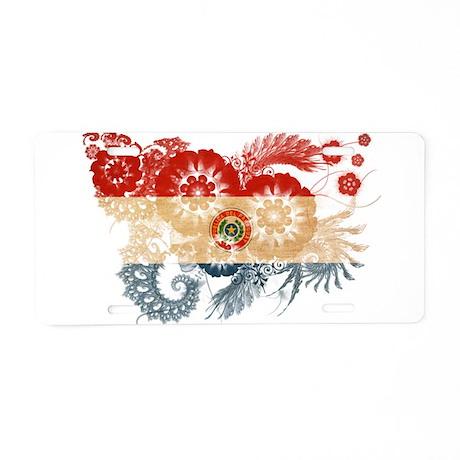Paraguay Flag Aluminum License Plate