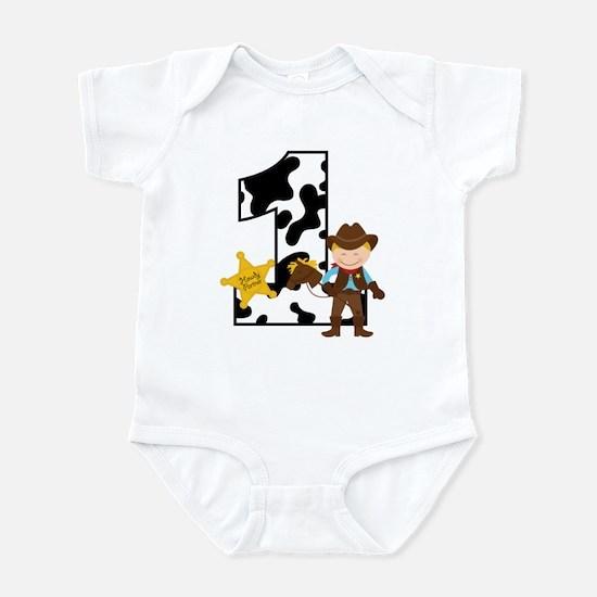 Cowboy 1st Birthday Infant Bodysuit