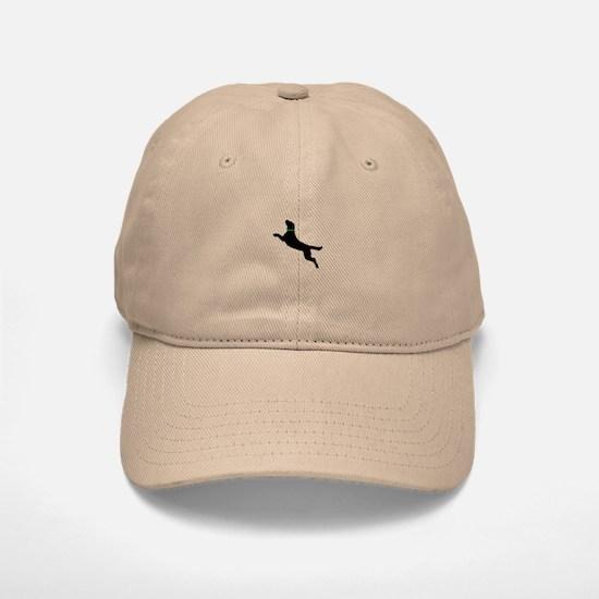 Black Dock Jumping Dog Baseball Baseball Cap
