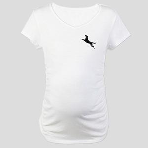 Black Dock Jumping Dog Maternity T-Shirt