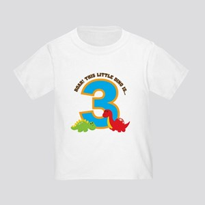Dinosaur 3rd Birthday Toddler T-Shirt