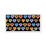 Groovy Hearts Pattern Aluminum License Plate