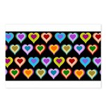 Groovy Hearts Pattern Postcards (Package of 8)